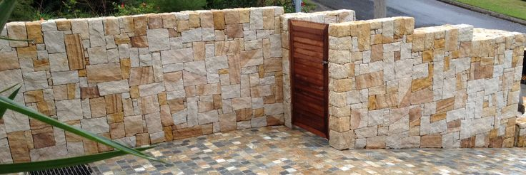 sandstone wall cladding northern beaches - Google Search