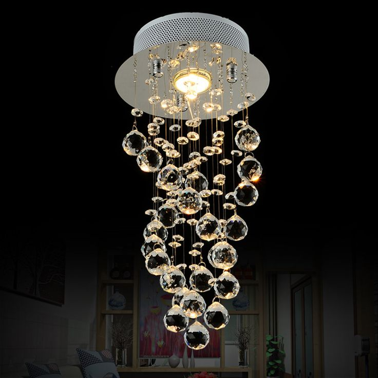 Eleganzo Collection Elegant Hanging Bubble Light Chandelier Crystalschandelier Lightingmodern
