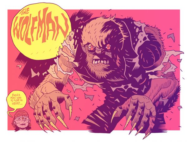 WOLFMAN - 30 Cool Illustrations by Dan Hipp  <3 <3