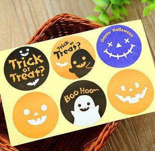 Sealing Stamp Stickers   Halloween Trick or Treat?