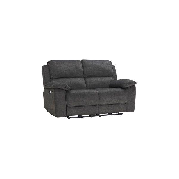 Charcoal Fabric Sofas 2 Seater Electric Recliner Sofa Goodwood Range Oak Furnitureland Recliner Reclining Sofa Fabric Sofa