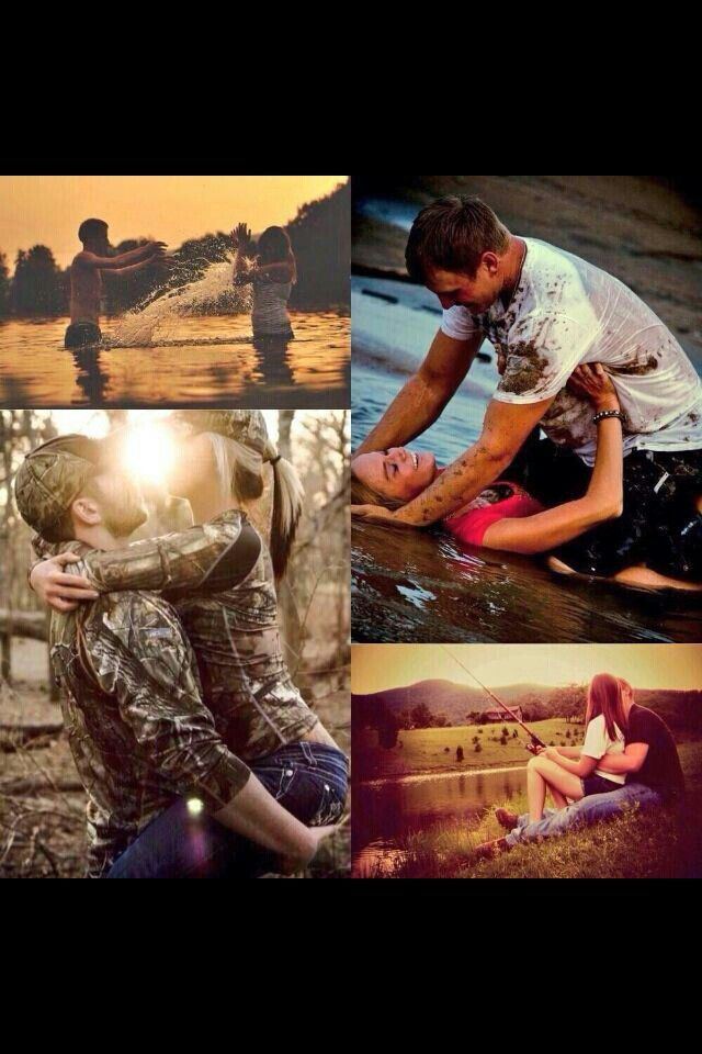Such Cute Engagment Photo Ideas - love the fishing one!
