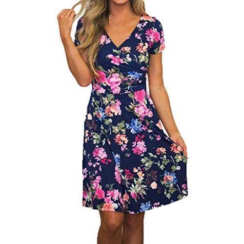 Oferta: 11.23€ Dto: -33%. Comprar Ofertas de vestidos verano mujer baratos casual 2017 Switchali manga corta vestidos de fiesta para bodas cortos elegantes mujer mini el barato. ¡Mira las ofertas!
