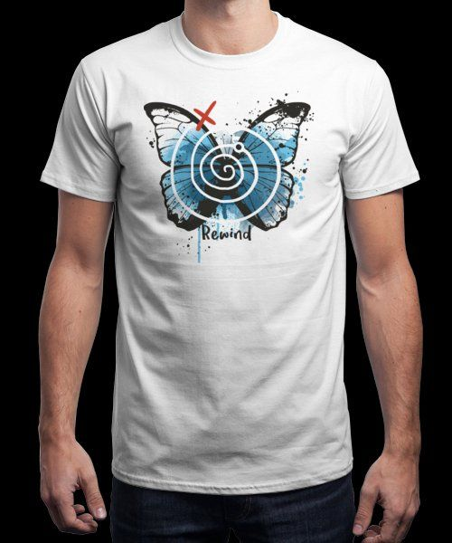 """""""Rewind"""" is today's £9/€11/$12 tee for 24 hours only on www.Qwertee.com Pin this for a chance to win a FREE TEE this weekend. Follow us on pinterest.com/qwertee for a second! Thanks:)"""