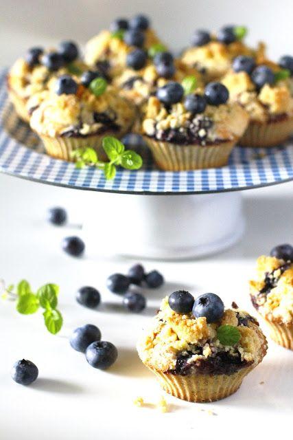 Muffiny Cytrynowe z Borówkami i Cytrynową Kruszonką Just My Delicious