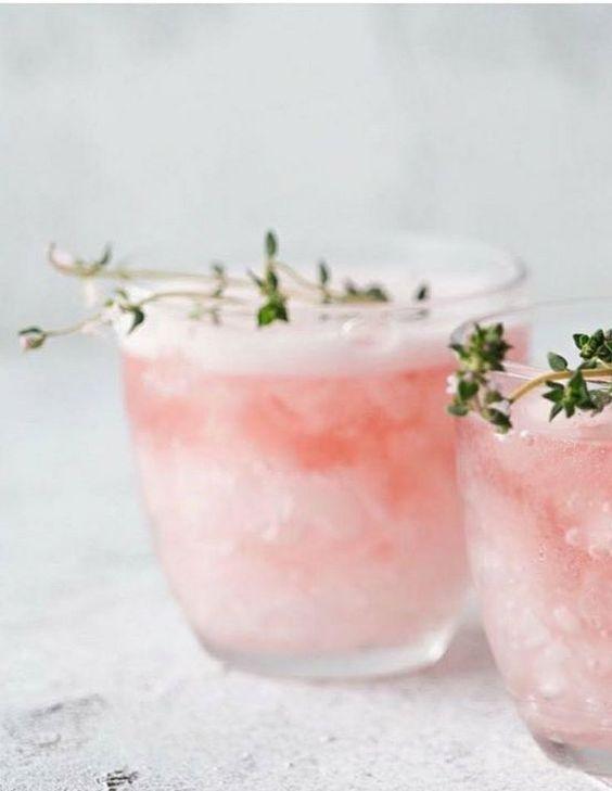 Hibiscus Rose Coconut Rum Cocktails