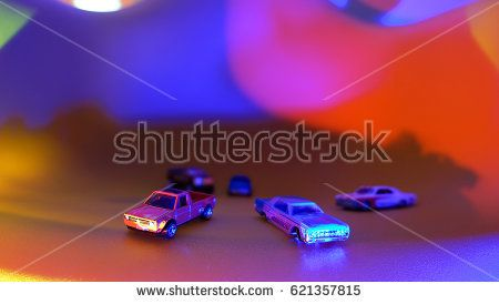 Stock Photo of toys of cars with colorful background