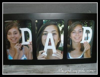 Father's Day idea: Father'S Day Gifts, Gifts Ideas, Father Day Crafts, Easy Father, Cute Ideas, Father Day Gifts, Fathers Day Gifts, Fathersday, Wooden Letters