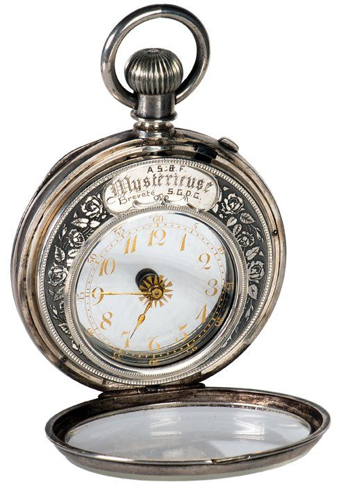 Mysterieuse. Silver mystery pocket watch. Swiss, 19th c : Lot 34