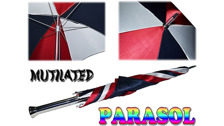 Perfect for stage magic! Mutilated Parasol by Amazo #Magic is a high quality product, made of aluminum and stainless steel. It Comes with six 8″ silks for the battens, and an extra towel.
