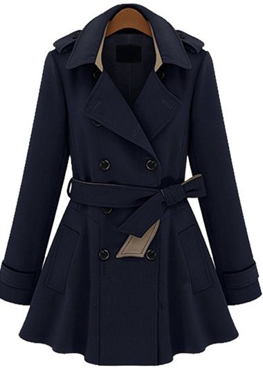 NAVY TRENCH COAT