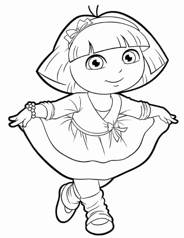 Dora Printable Coloring Pages Luxury Dora Coloring Lots Of Dora Coloring Pages And Printables Dora Coloring Coloring Pages For Girls Cartoon Coloring Pages