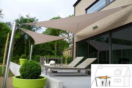 Terrasse voile de bateau outside garden pinterest - Toile d ombrage terrasse ...