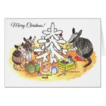 Armadillo Christmas Card #Texas