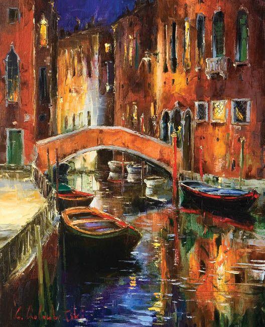 Venice Sleeps by Gleb Goloubetski, Oil on Canvas, 80cmx65cm