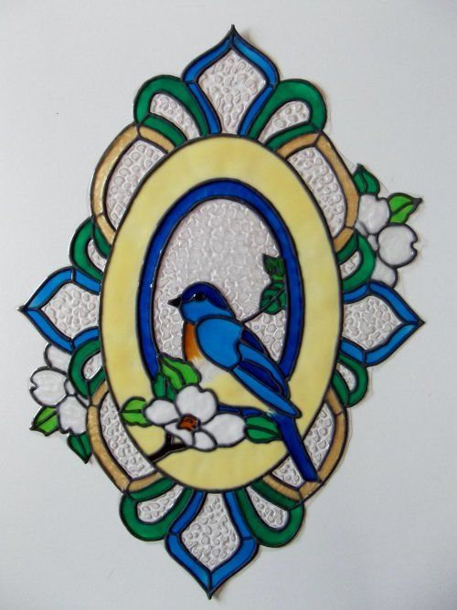 Best Stained Glass Birds Images On Pinterest Mosaics - Window decals for birds canada