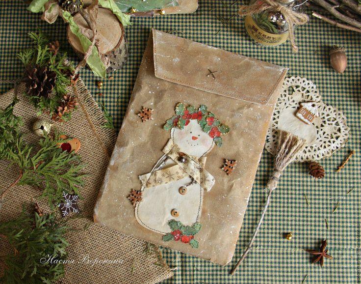 Купить Новогодний набор Снеговик - чердак, чердачные игрушки, рустикальный стиль, кофейные игрушки