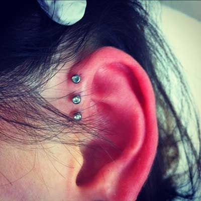 Anti Helix Piercing >> 10 Different Types of Ear Piercings That Are Most Popular Right Now