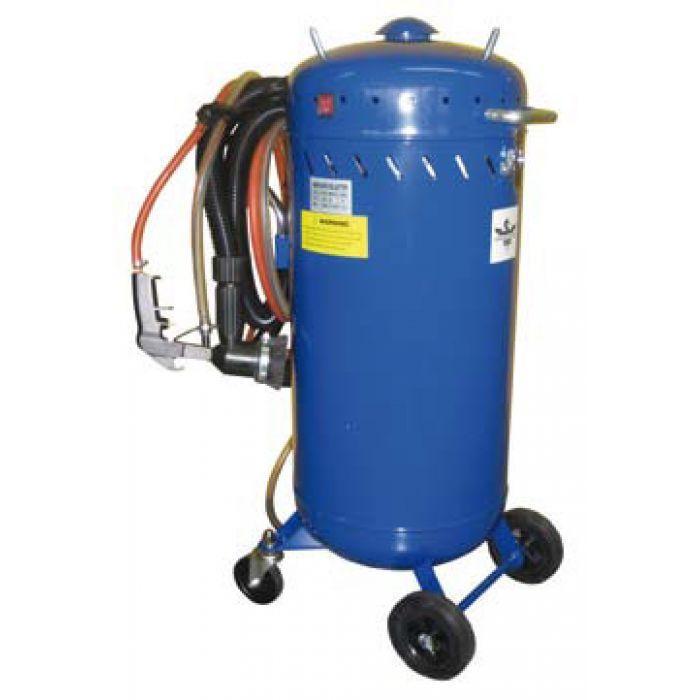 Commander ici cette sableuse de 106 litres avec un aspirateur intégré qui permet un sablage et un recyclage du sable utilisé - euro-expos.net