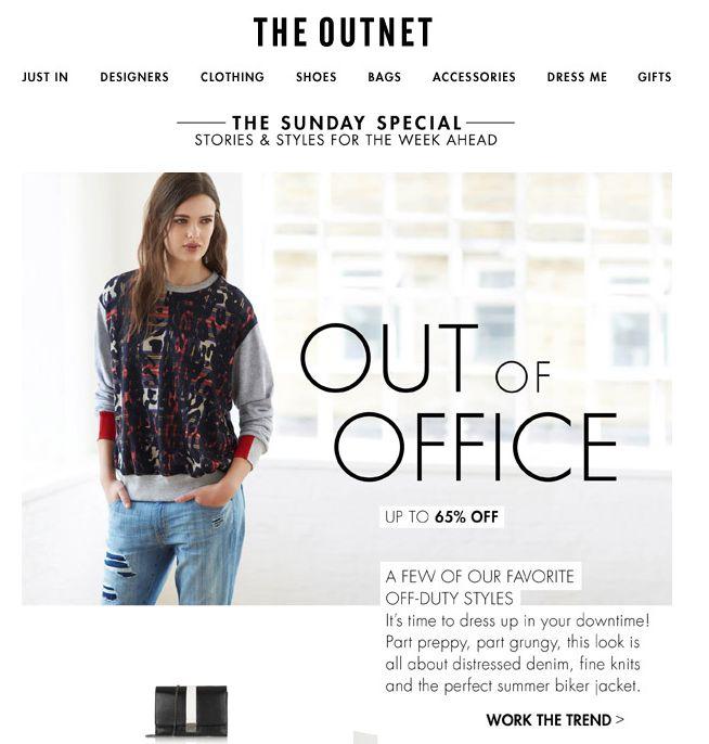 """SUB: """"Turn on your Out of Office"""" Carina l'idea di giocare sul tema """"out of office"""" per presentare i look da indossare durante le ferie."""