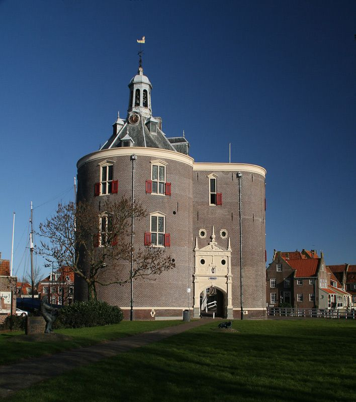 The 'Drommedaris', one of the 2 original fortified towers of Enkhuizen, Netherlands