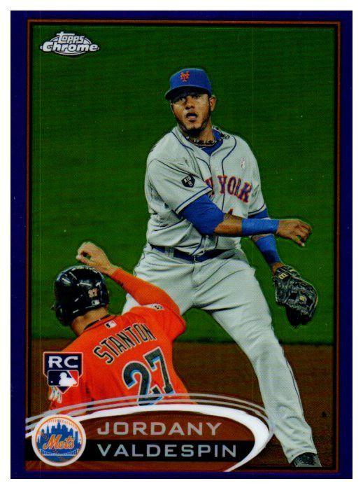 2012 Topps Chrome Jordany Valdespin Purple Refractor New York Mets