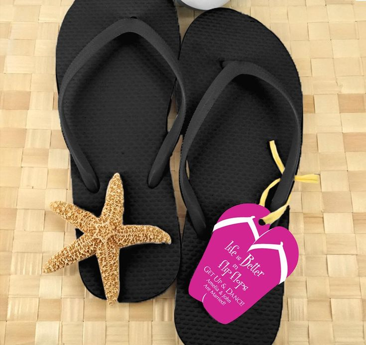 Black Guest Flip Flops Are Perfect Addition To Weddings Or Events Bulk For Wedding Guests Keep Feet Comfortable So They Can Enjoy The