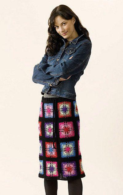 Crochet Granny Square Skirt, de Doris Chan. http://www.ravelry.com/patterns/library/crochet-granny-square-skirt