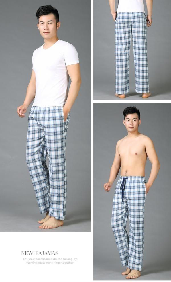 55f2868336 Summer 100% cotton sleep bottoms mens pajama simple sleepwear pants pijamas  for male sheer mens pants pyjama trousers plus size