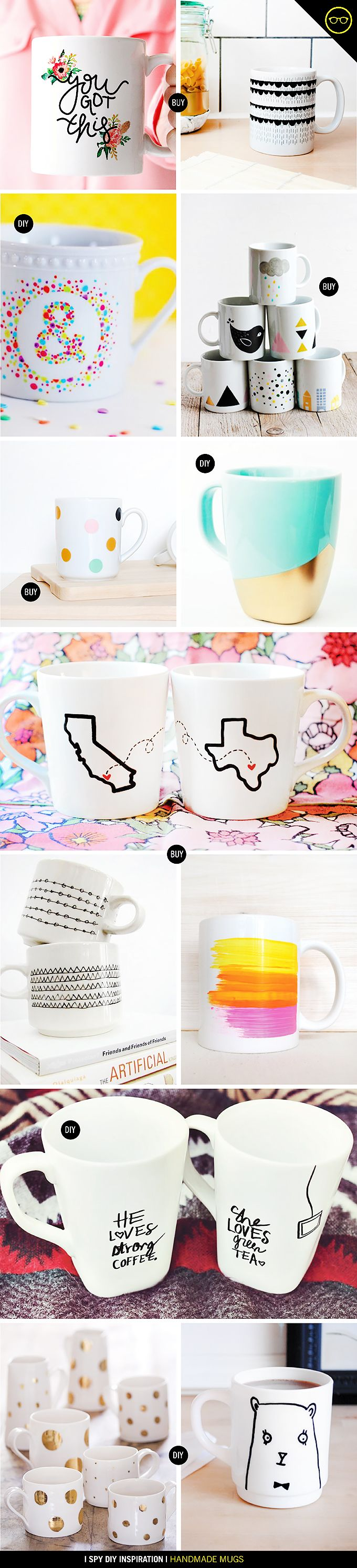 DIY INSPIRATION | Handmade Mugs | I SPY DIY