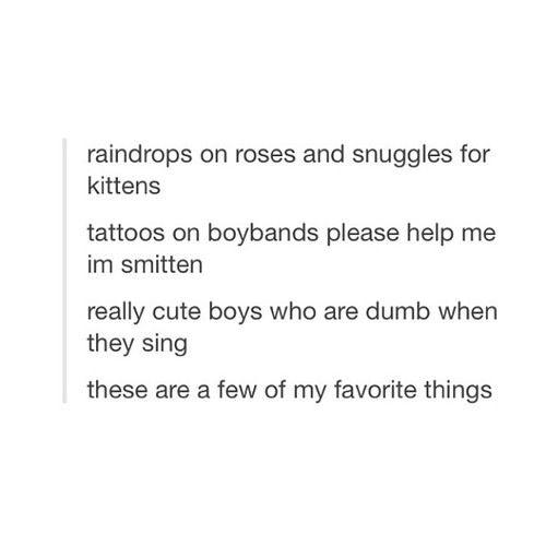 My favorite things.