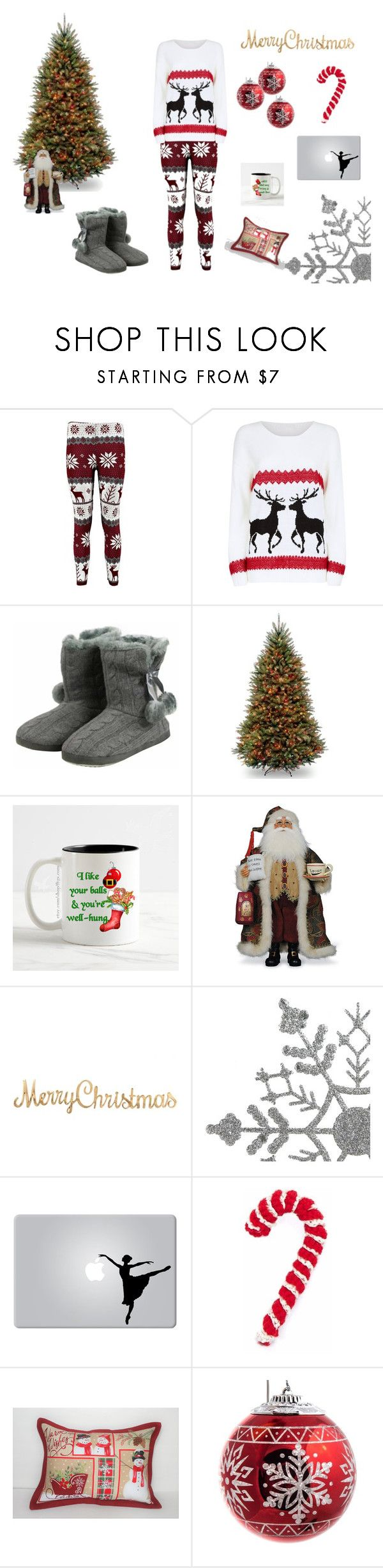 """christmas mood"" by natalyholly on Polyvore featuring Mela Loves London, National Tree Company and Frontgate"