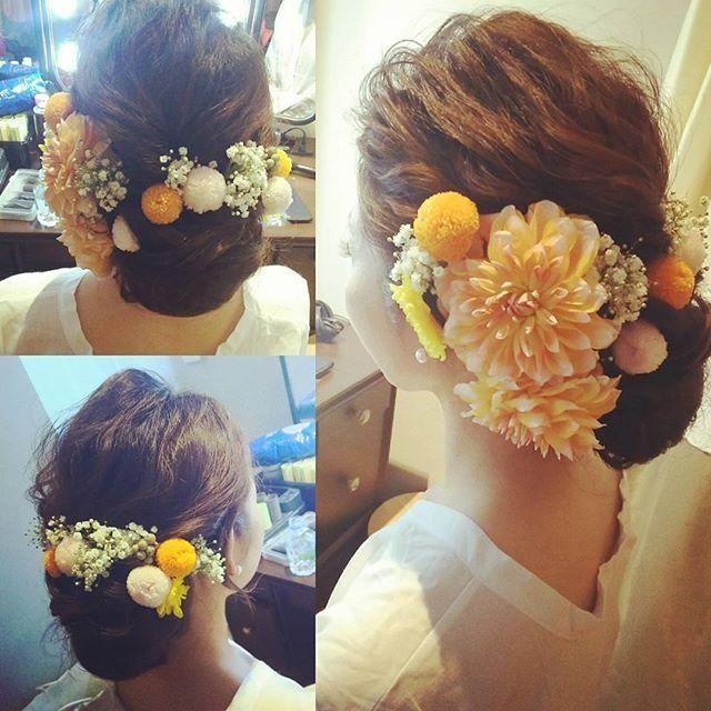* * * ***** #花嫁#花嫁ヘア#和装ヘア#生花#和装アップ #ブライダル#ブライダルヘア#ブライダルヘアメイク#結婚式#ヘアスタイル##ヘアメイク#ヘアセット#ヘアアレンジ#bridal#wedding#hairmake#bridalhairmake#大阪