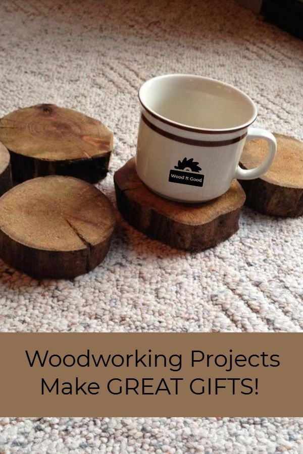 Rustic Wood Slice Coasters Small Woodworking Project Anyone Can Do