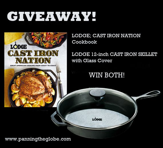 I'm giving away a great cookbook and a skillet - both from Lodge Cast Iron.  Enter from now until May 4th. Good Luck!!