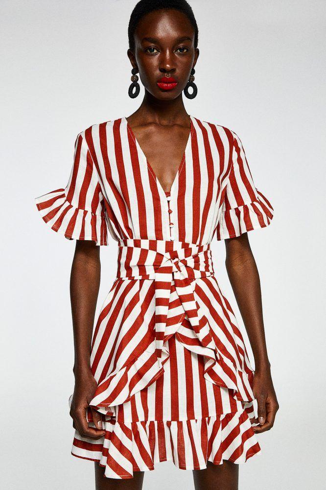 3faa1288a Vestido corto plisado - Mujer