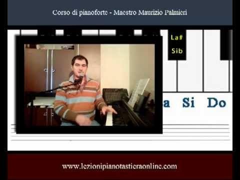 Corso di pianoforte - Lezione 06 - Toni e semitoni - Le alterazioni.