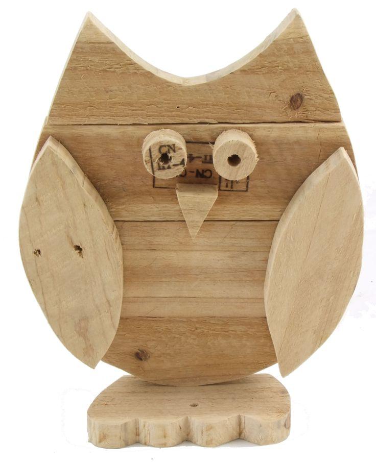 Dit leuke uiltje is handgemaakt van oude #houten #palletplanken. Leuk voor bijvoorbeeld de #kinderkamer. Liever een andere afmeting of ander ontwerp? Mail naar info@leefhuus.nl