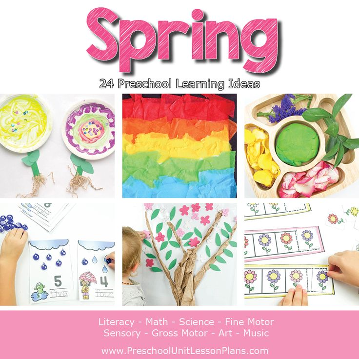 Spring Theme Preschool Lesson Plans! Get ready for fun and learning with preschool unit lesson plans for fall. This thematic unit is packed with literature based activities that are easy to prepare and fun to implement. Spring Theme Lesson Plans contains 20+ engaging activities to help you meet all your preschool curriculum goals. (AD)