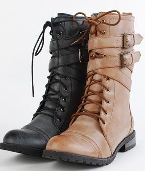 combat boots woot.