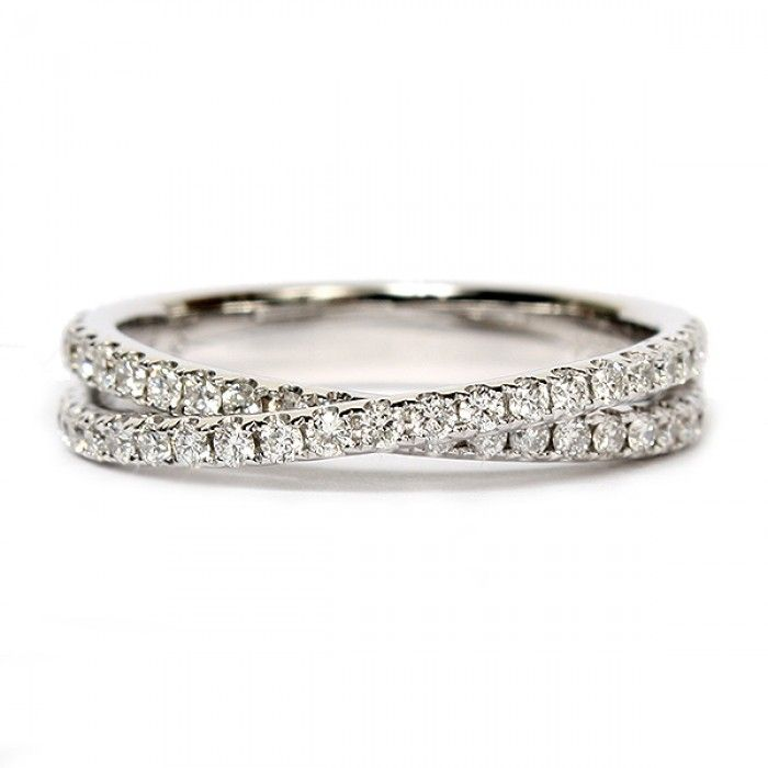 14k white gold wedding band by scott kay features a criss cross