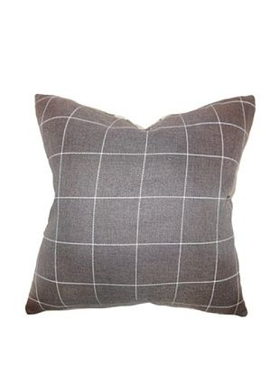 40% OFF The Pillow Collection Ivo Plaid Pillow, Brown