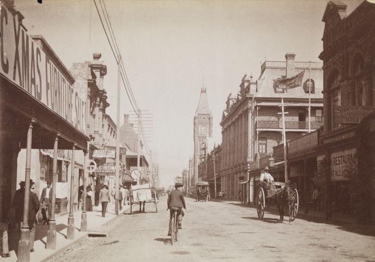 BA129/12: Hay Street, Perth east from William Street, 1894-1899.  http://encore.slwa.wa.gov.au/iii/encore/record/C__Rb4538114__Sd%3A%28restaurants%29%20f%3Av%20y%3A%5B1850-1950%5D__P0%2C19__Orightresult__U__X3?lang=eng&suite=def