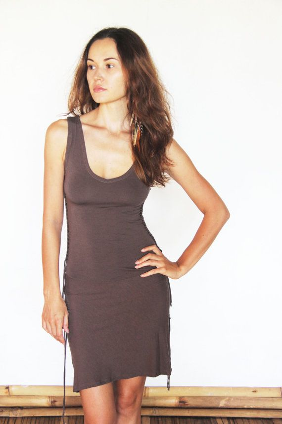 cut-out SUADELA mini dress with beautiful braided side by SOAgypsy