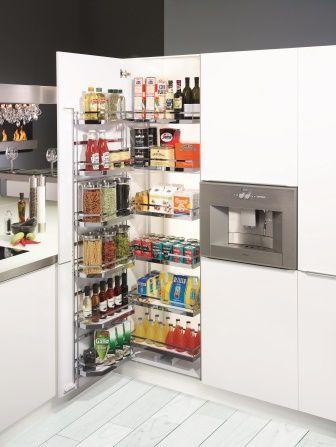 Sistema TANDEM para almacenar alimentos. Aprovecha el interior de la puerta, y la profundidad del mueble. Todo a la vista! By Cocinas Brava