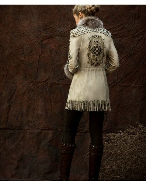 Double D Ranch Fall 2015 Pepi Leather & Fur Duster Jacket! http ...