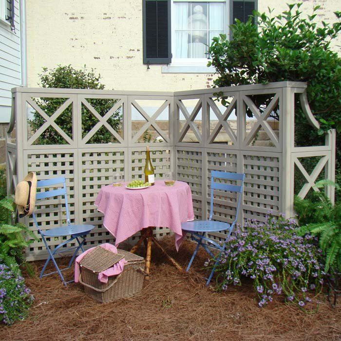 Using lattice for privacy on a deck woodworking projects for Lattice panel privacy screen