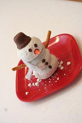 Snowman edible craft