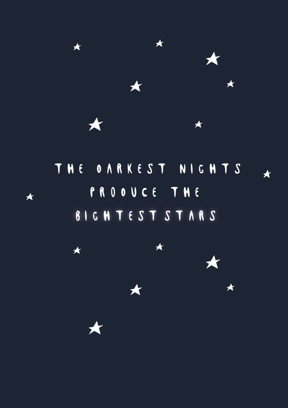 Brightest stars design and quote