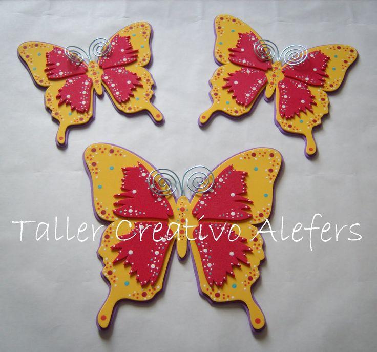 Decoraciones con mariposas mariposas de tres tama os - Decoracion con mariposas ...